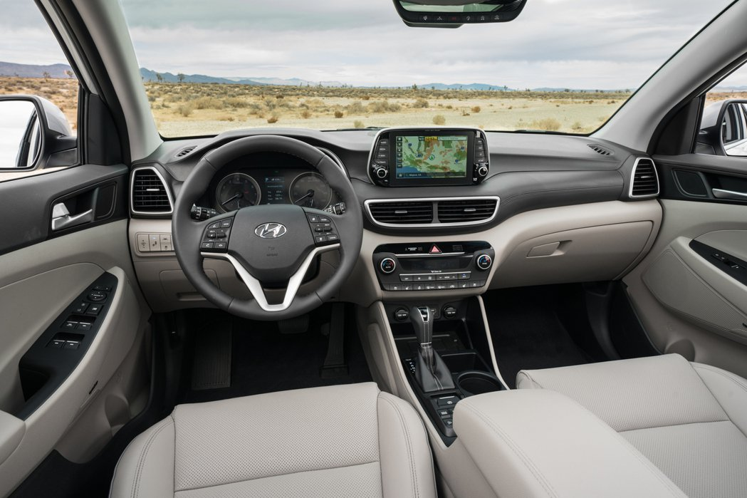 第三代、2020年式小改款Hyundai Tucson內裝。 摘自Hyundai