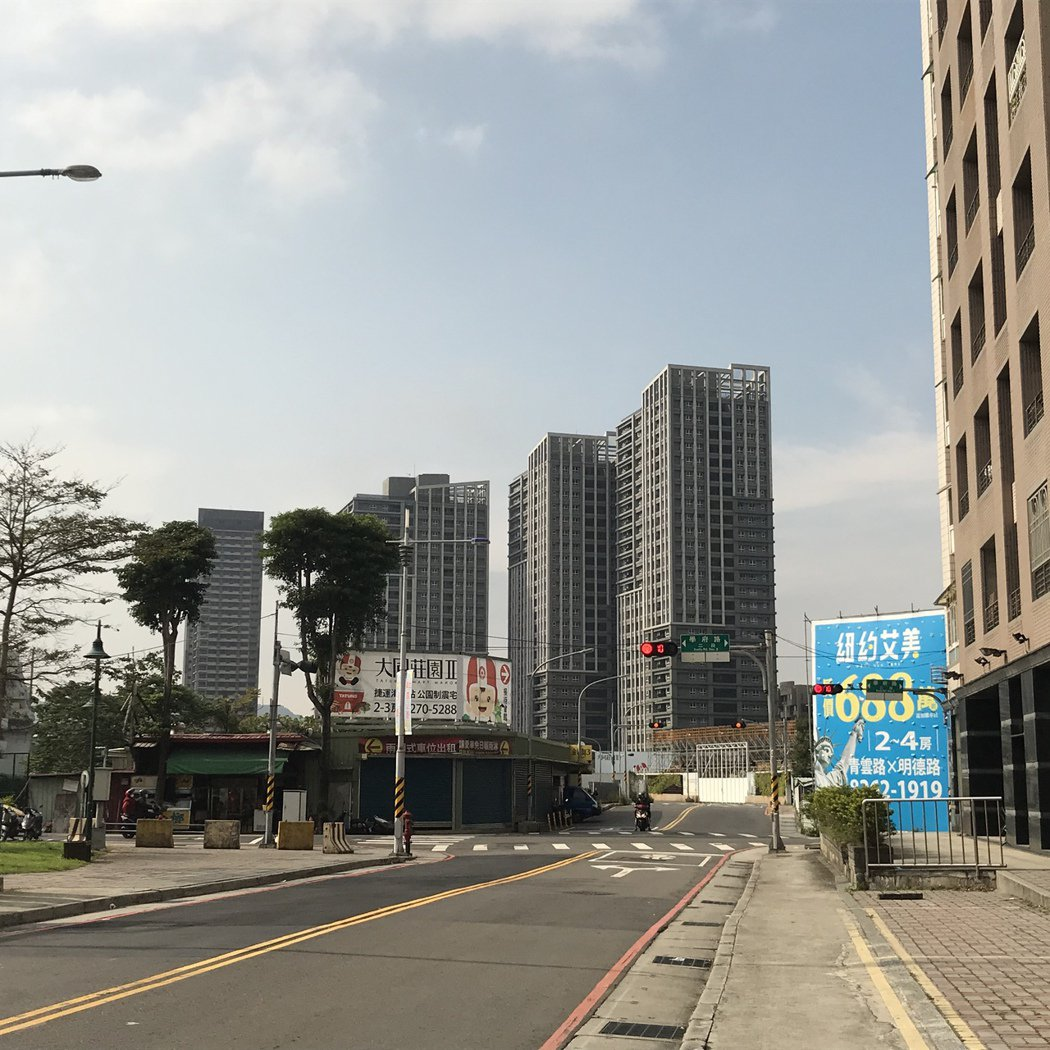 土城重劃區已有捷運板南線。記者游智文/攝影