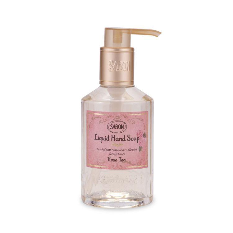 SABON玫瑰茶語洗手乳/200ml/550元。圖/SABON提供