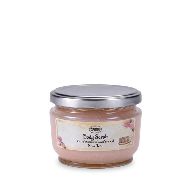 SABON玫瑰茶語身體磨砂膏/320g/1,480元。圖/SABON提供