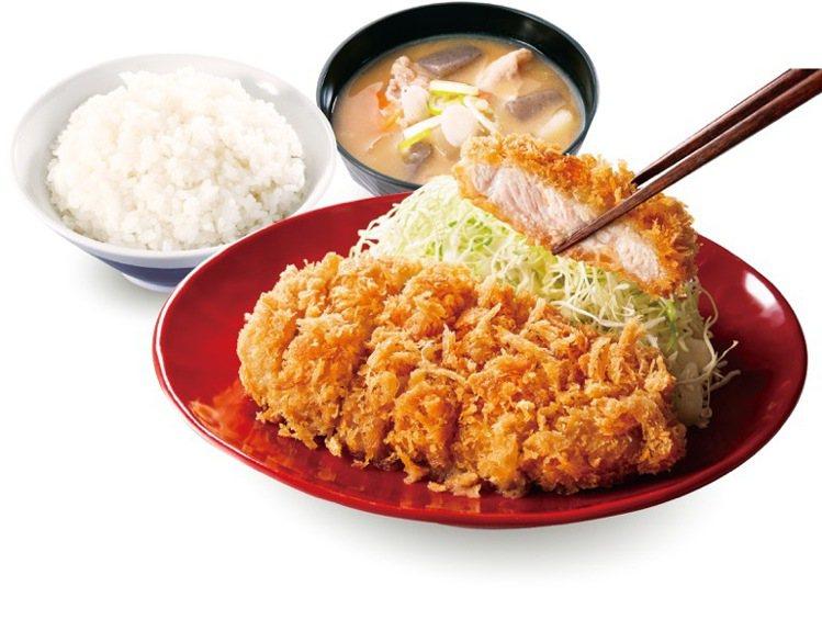 開幕TOP熱銷商品「里肌豬排定食」,售價199元。圖/台灣吉豚屋提供