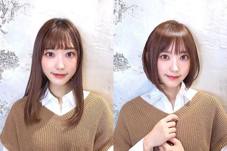長髮與短髮的感覺,完全不一樣。圖/摘自tenhouo IG