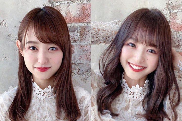 雙頰有點肉肉的女生,很適合長髮與眉上瀏海。圖/摘自tenhouo IG