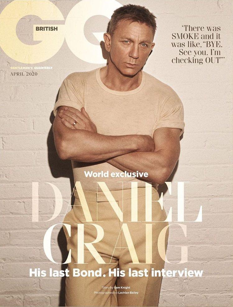 丹尼爾克雷格為「007:生死交戰」做的封面專訪仍照原定日期刊出。圖/摘自GQ