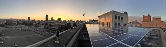 微電能源維運國發會屋頂案廠,共同建構全民綠能未來。 微電/提供