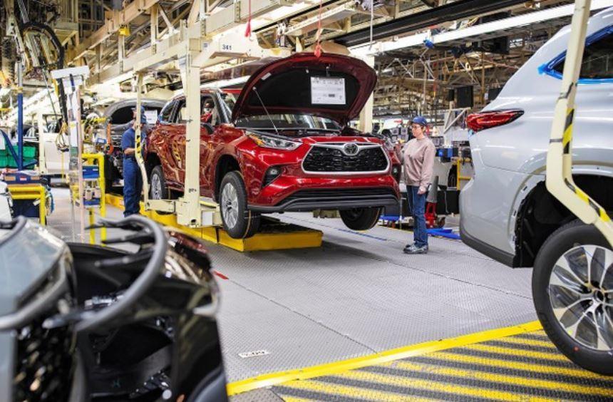 豐田汽車在美國印第安納州的工廠。豐田於5月11日,相隔約50天重啟北美的工廠(由...