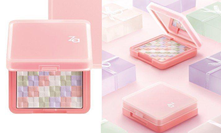 六月即將上市的「絢色亮顏編織蜜粉餅」。圖/Za提供