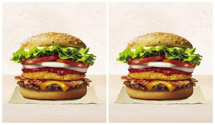 漢堡王推出購買Monster Burger套餐,可獲贈虎牌冰釀啤酒的優惠活動。圖...