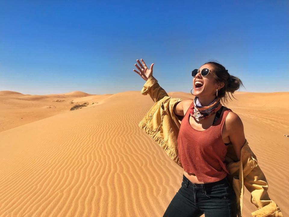 拍電影時的沙漠場景。圖/彥恩國際提供