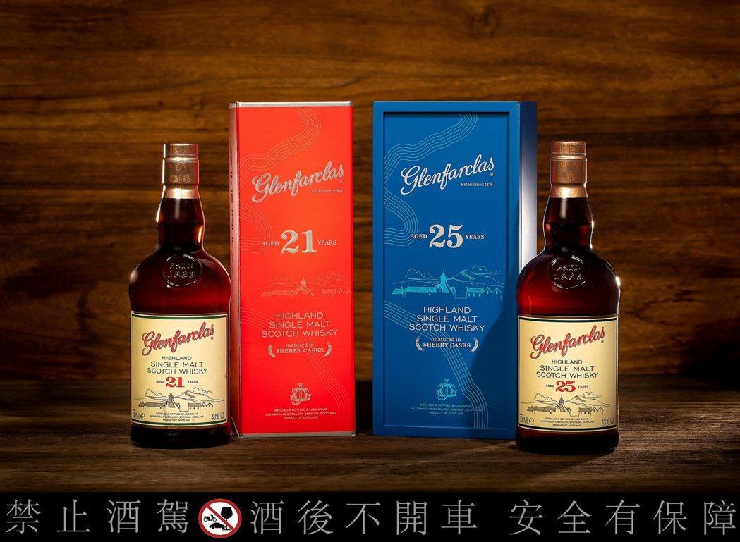 格蘭花格21年及25年單一麥芽蘇格蘭威士忌精裝版,建議售價分別為$2,890和$...