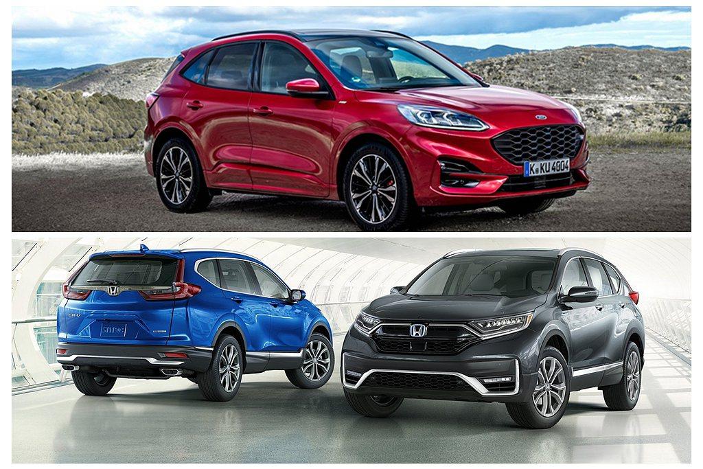 大改款Ford Kuga、小改款Honda CR-V同時現身四月新車油耗測試報告...