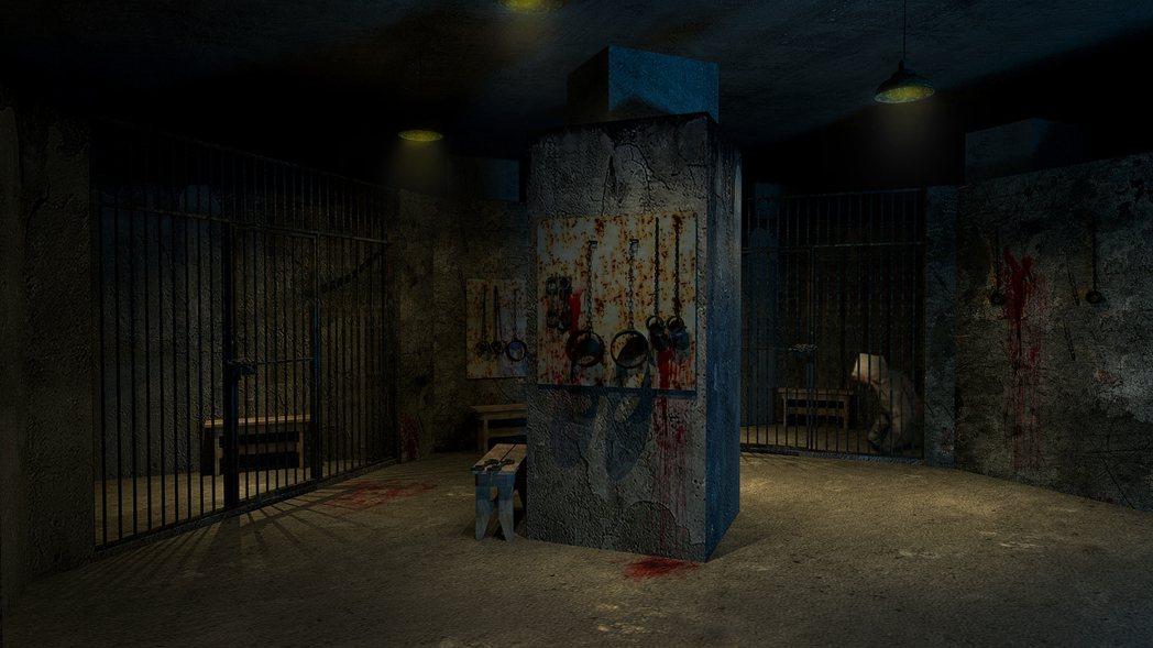 關押監牢拍照區示意圖(照片來源/聯合數位文創 提供)