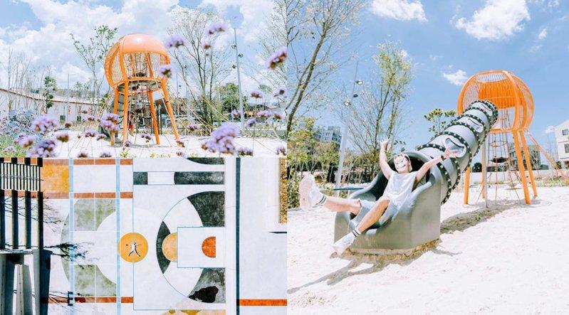 「草湖防災公園」為全台首座兼具防洪、運動、遊憩功能的複合型防汛公園。圖/IG@chinling_kuo授權