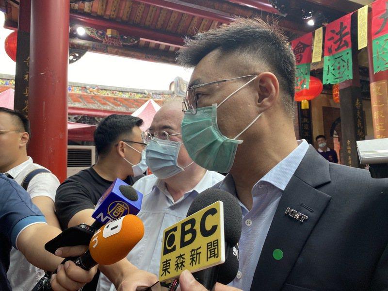國民黨主席江啟臣針對防疫、市政、振興提出看法。記者胡瑞玲/攝影