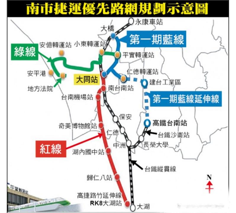 台南捷運東側藍線1期進入綜合規畫階段。圖/交通局提供