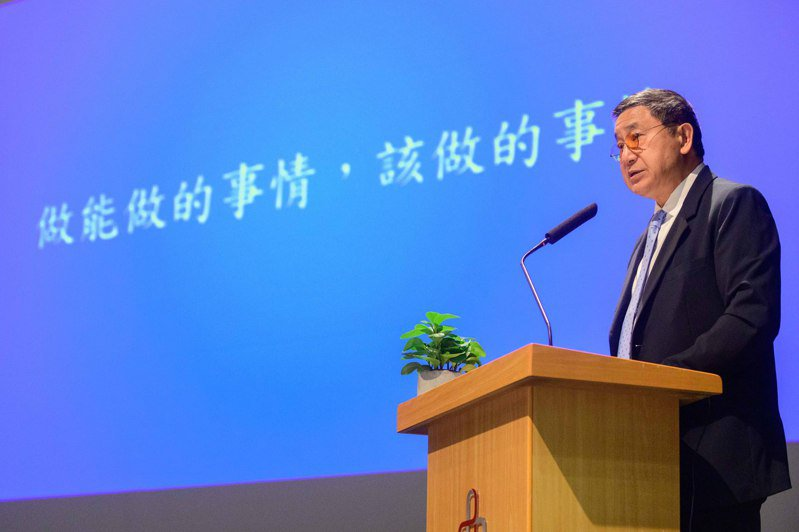 台泥董事長張安平18日出席法說會。(台泥提供)