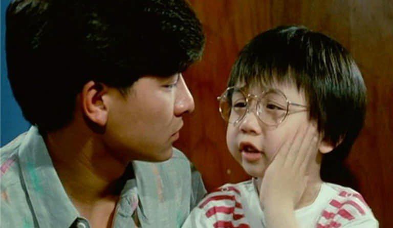小彬彬(右)曾和劉德華合拍電影。圖/摘自臉書