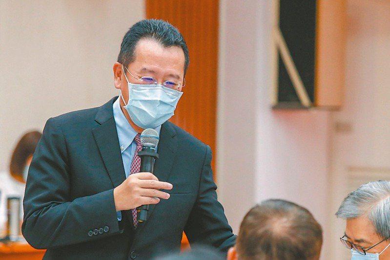 內定接掌國安會的顧立雄,昨天表示「很高興立委們不用再面對一個路人甲」。記者鄭超文/攝影