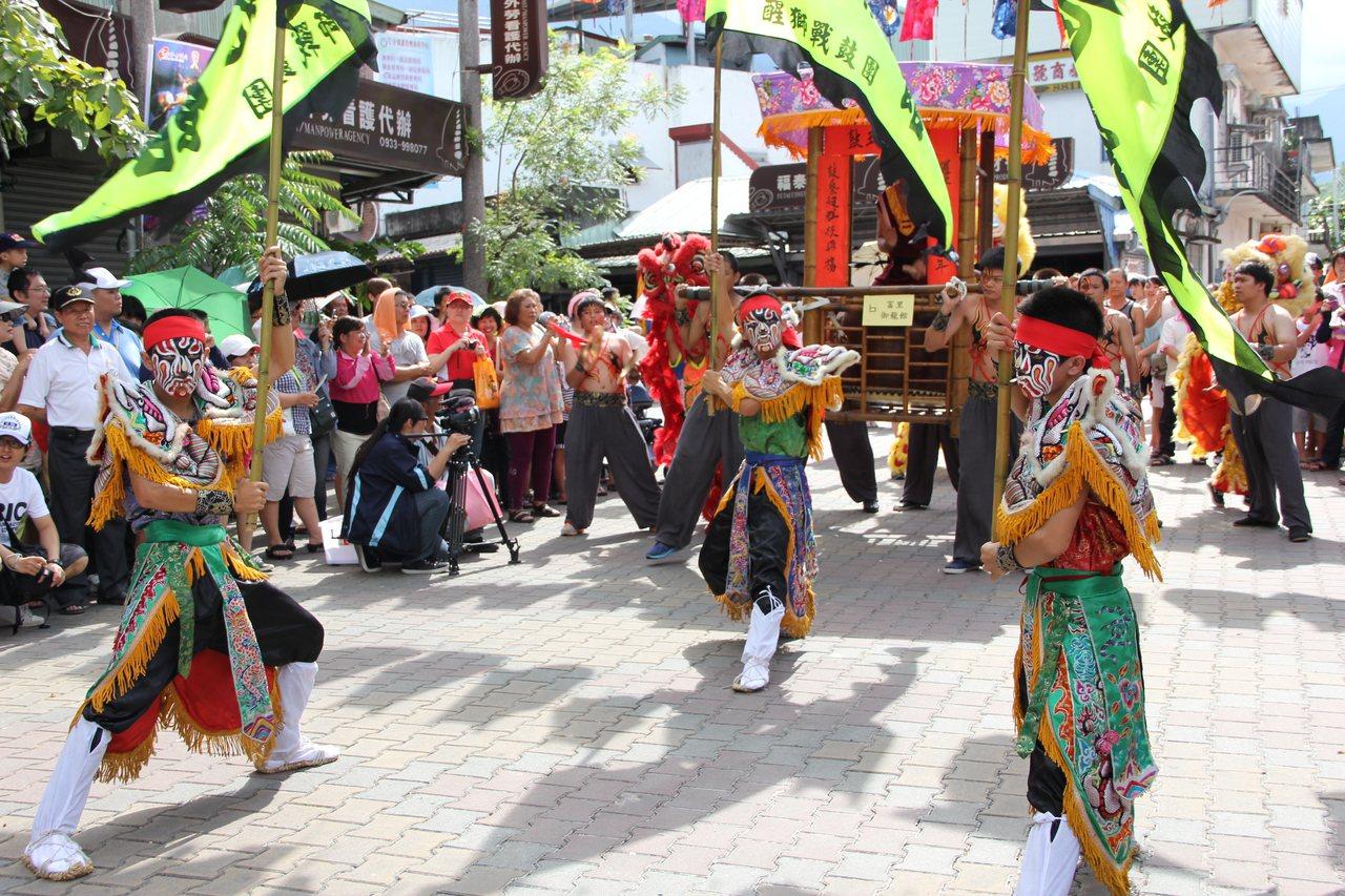 花蓮縣瑞穗鄉富源村的鼓王爭霸戰,是客家庄十二大節慶之一。 圖/陳俊智 攝影