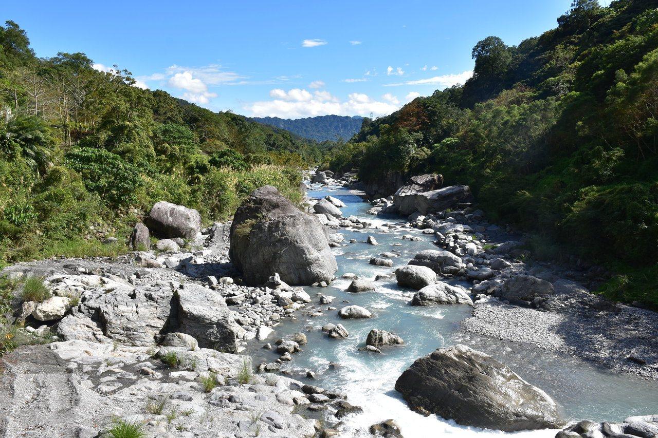 「富源森林遊樂區」有遍布滿園的樟樹林,可欣賞富源吊橋下的壯麗富源溪谷。 圖/王思...