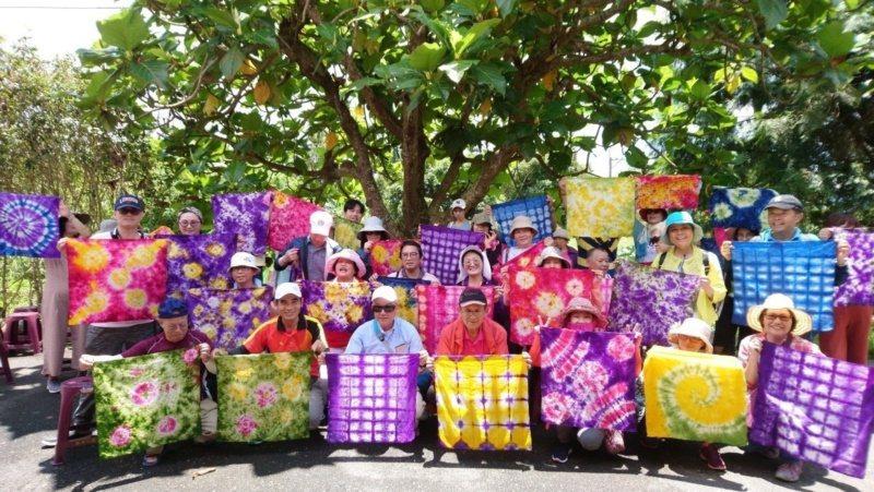花蓮縣瑞穗鄉富源社區推廣染布,是地方特色。 圖/王燕華 翻攝
