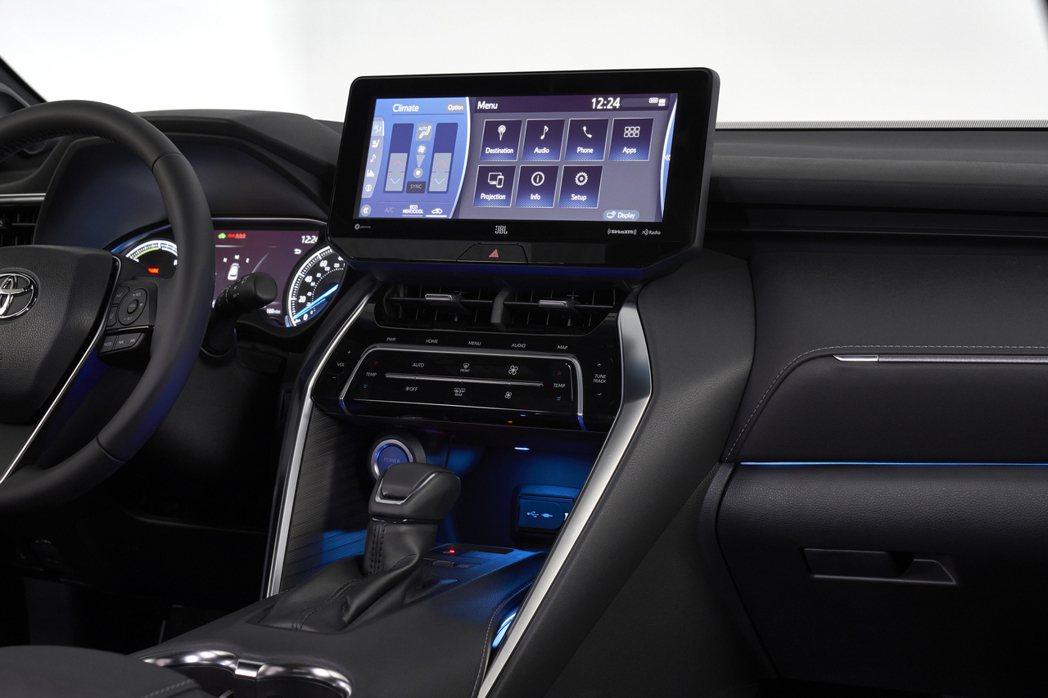 全新Toyota Venza提供手機無線充電板。 摘自Toyota