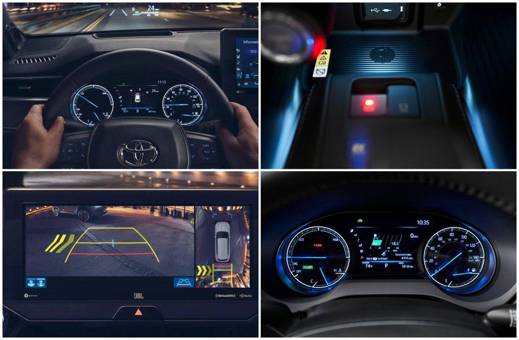 全新Toyota Venza提供10吋的全彩HUD抬頭顯示器。 摘自Toyota