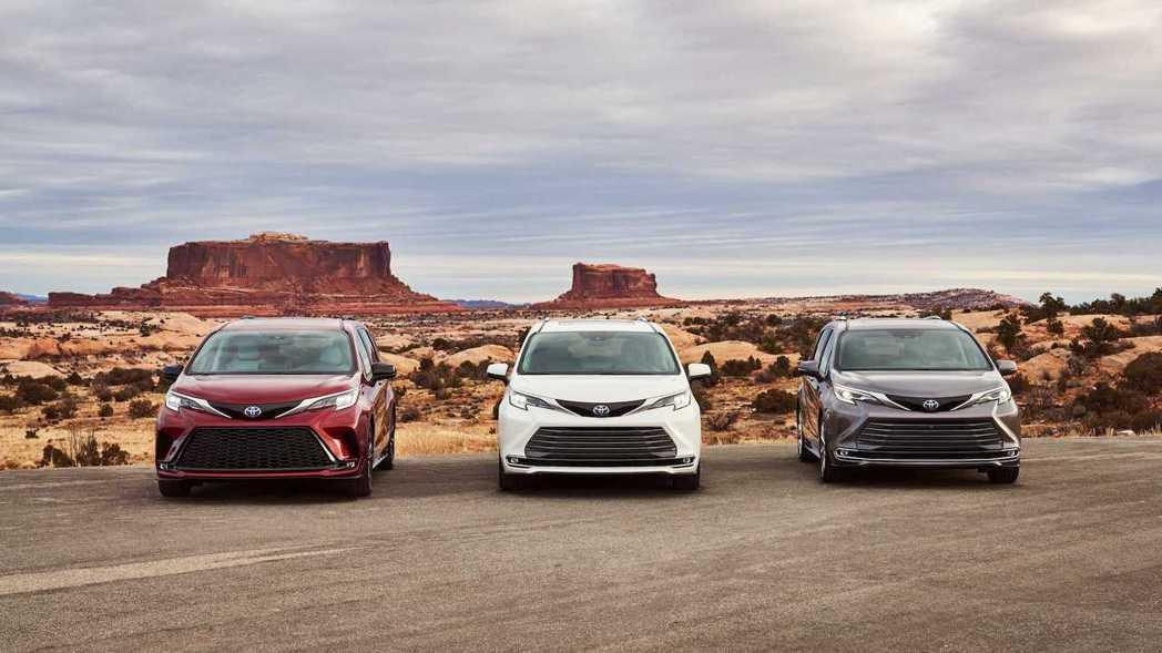 Toyota Sienna分為LE、XLE、XSE、Limited、Platin...