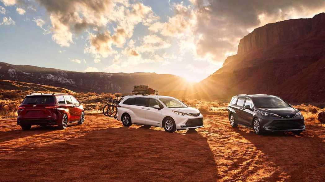 大改款第四代Toyota Sienna全面換裝Hybrid動力。 摘自Toyot...