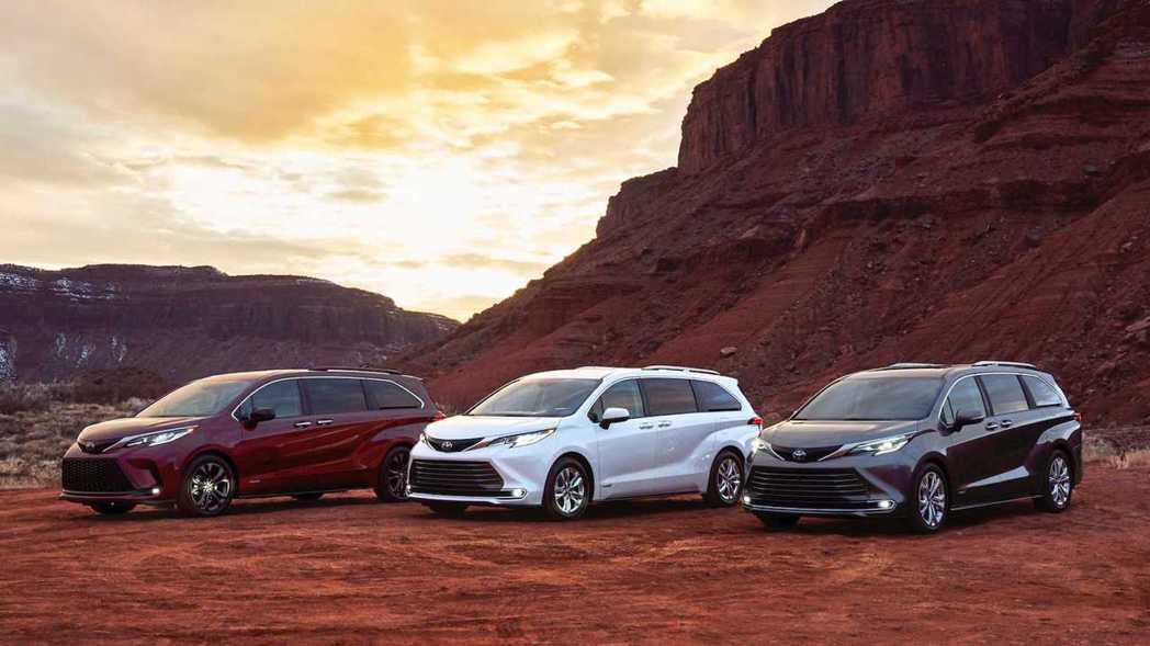 第四代Toyota Sienna正式發表。 摘自Toyota