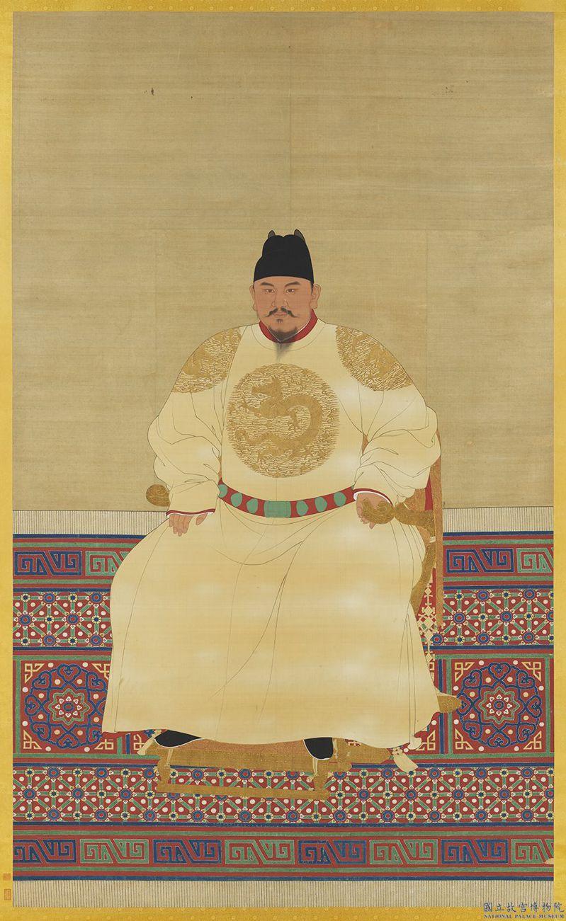剛獲文化部指定為國寶的「明太祖坐像」,是朱元璋畫像中最「正常」的一張。圖/故宮提供