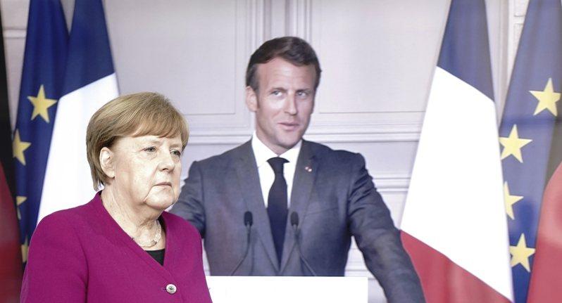 德國總理梅克爾和法國總統馬克宏18舉行視訊會議,提議設立一項規模達5000億歐元的復甦基金。美聯社