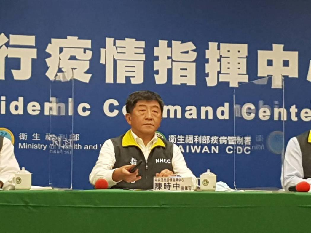 中央指揮中心指揮官、衛福部部長陳時中。聯合報系記者楊雅棠/攝影
