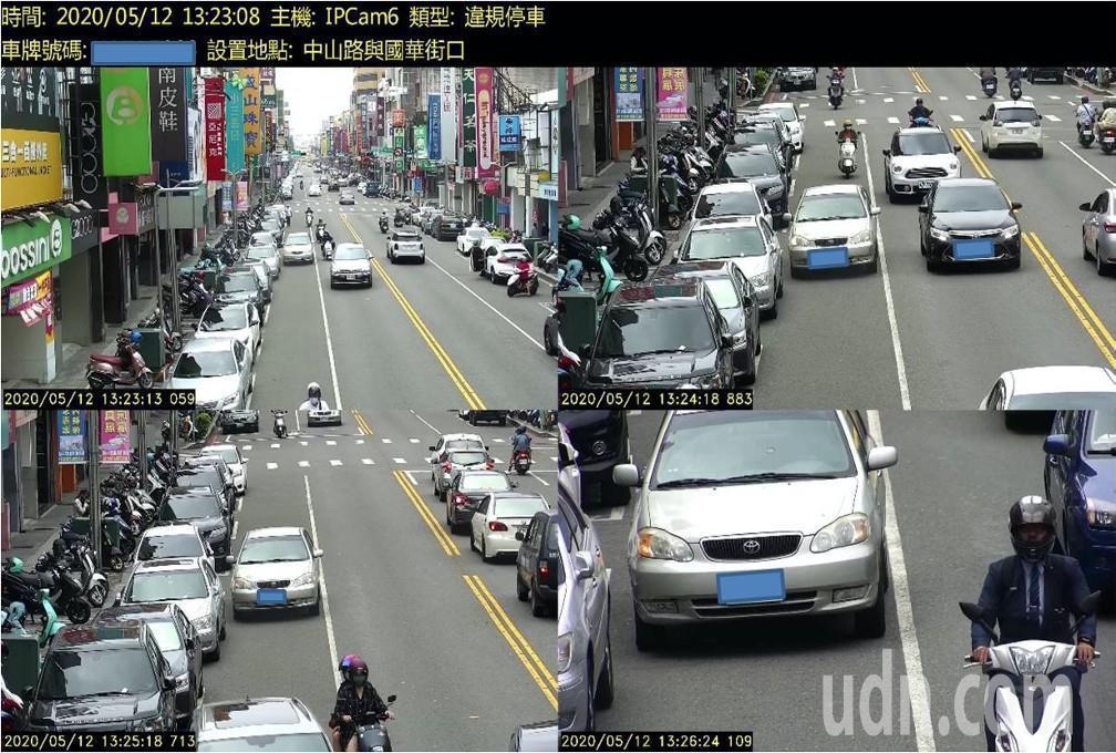 嘉義市科技執法4月上路,不僅民眾檢舉交通違規數、員警舉發數明顯下降。圖/嘉義市議...