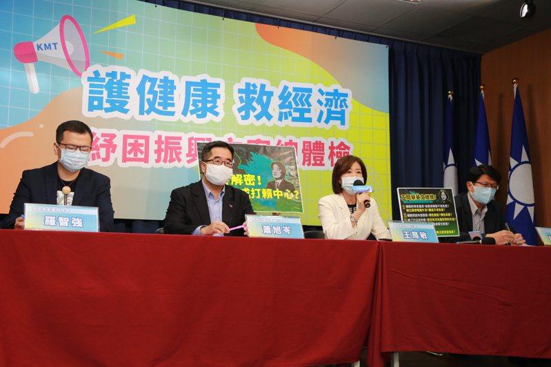 國民黨今舉行「駭客解密!總統府成打賴中心?」記者會。記者劉宛琳/攝影