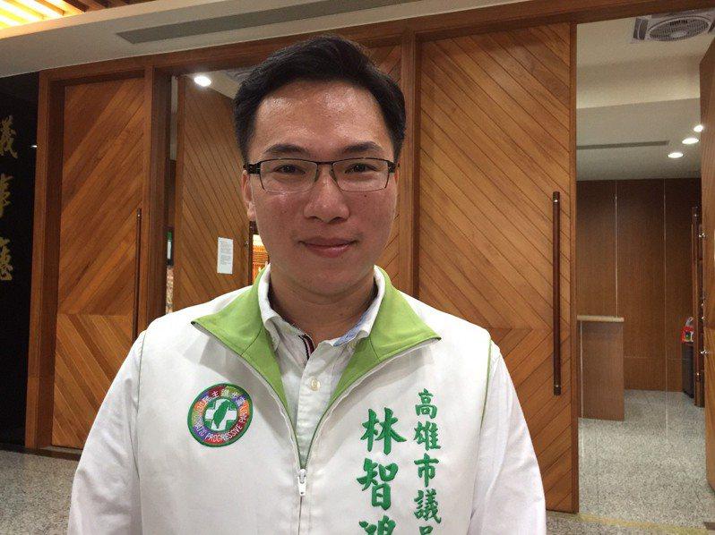 民進黨高雄市議員林智鴻促市府首長6月6日之前堅守行政中立。記者楊濡嘉/攝影