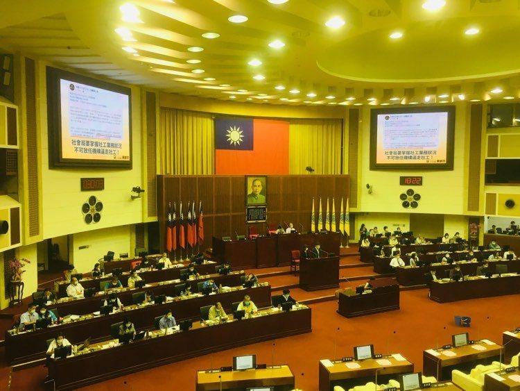台北市議會今天下午民政部門質詢。記者張世杰/攝影