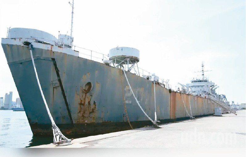 海軍編號LST201的「中海」號登陸艦,曾在八二三金門砲戰中擊沉敵艦。 圖/聯合報系資料照片
