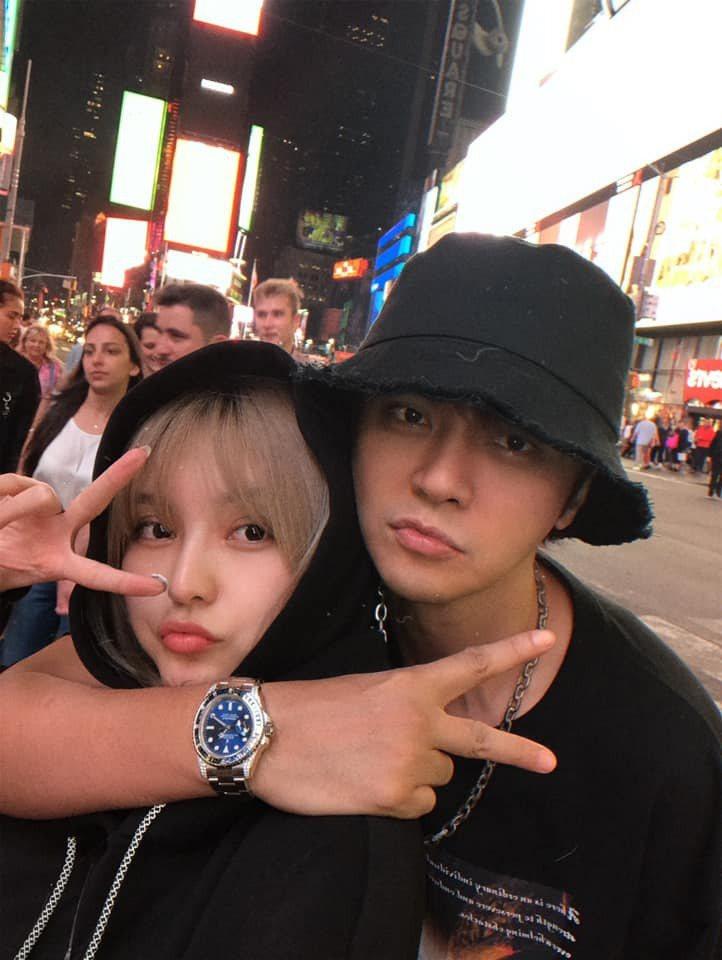 羅志祥(右)與周揚青曾經甜蜜合影。圖/摘自臉書