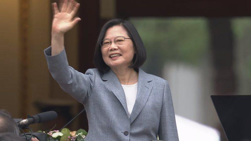 蔡英文总统上午在台北宾馆发表就职演说。 图/总统府提供