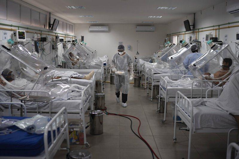 巴西病例數超出拉美各國,成為全球確診數第3高的國家。 美聯社