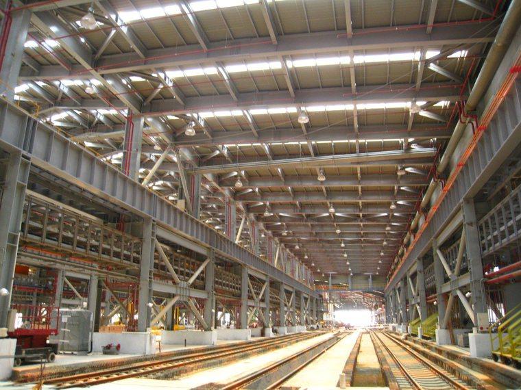 台鐵富岡基地是東亞最新的火車維修基地。 圖/李承宇 攝影