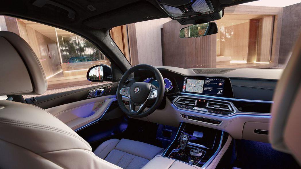 全新Alpina XB7車室配置仍與BMW X7相同。 摘自Alpina