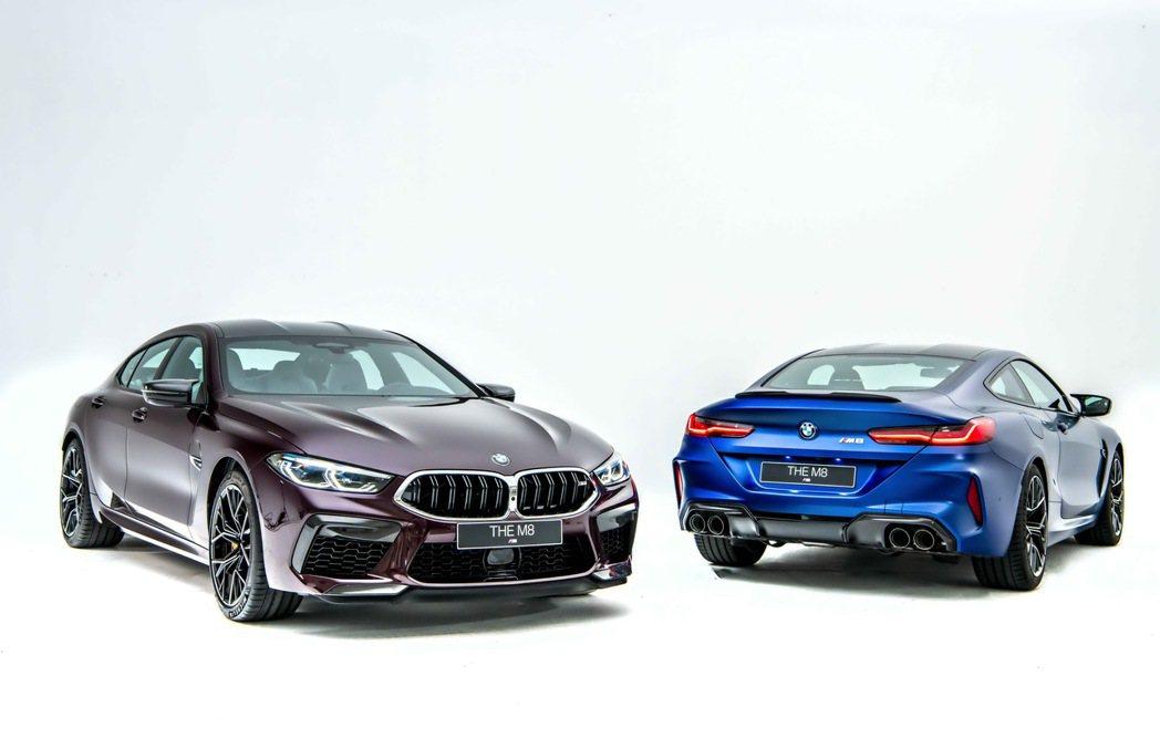 首度強悍登台的2020年式BMW M8 Coupe與M8 Gran Coupe搭...