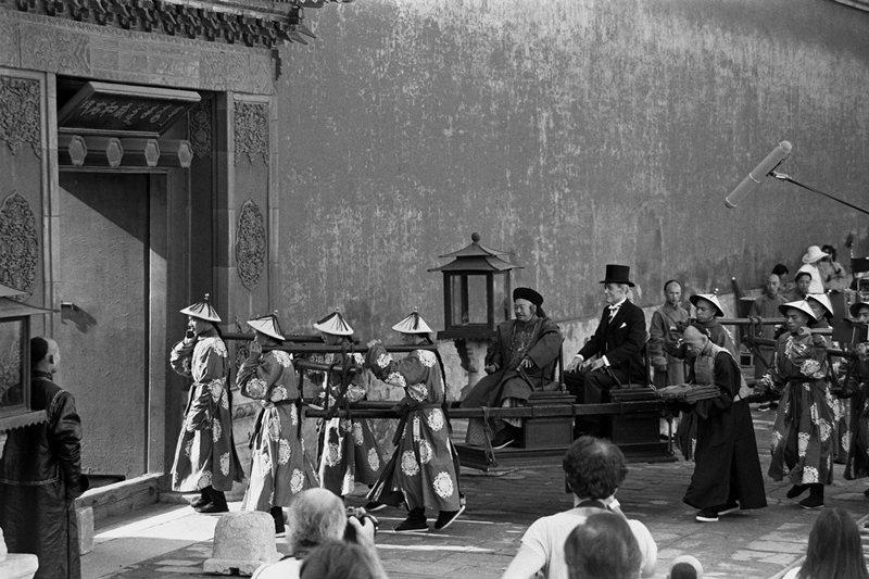 1986年,由義大利、英國、中國聯合拍攝的電影《末代皇帝》在北京拍攝。 圖/中新社
