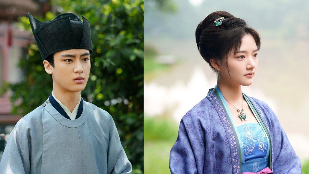 大陸15歲男演員邊程與20歲女演員任敏在陸劇「清平樂」中飾演「宦官懷吉」與「徽柔