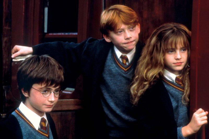 丹尼爾雷德克里夫(左起)、魯伯葛林特、艾瑪華森從小一起合演「哈利波特」系列電影。
