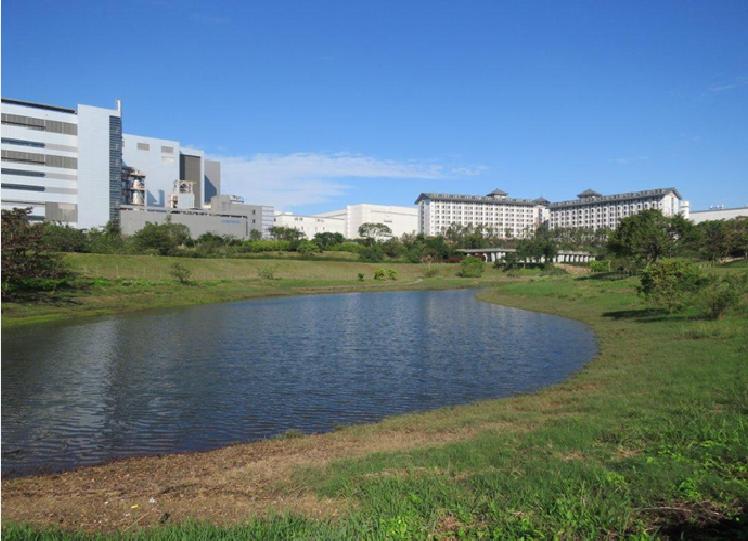 中科管理局多年來持續推動「中科台中園區生態社區認證(EEWH-EC)」,最近正式取得鑽石級生態社區綠建築標章證書,圖為全國首例水土保持示範區-水堀頭公園。