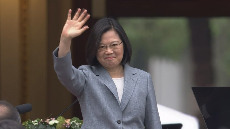 總統蔡英文就職演說強調不會接受北京當局以「一國兩制」矮化台灣。圖/總統府提供