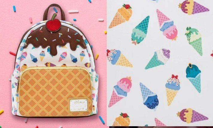 美國品牌Loungefly與迪士尼聯名推出公主冰淇淋印花包款。圖/摘自twitt...